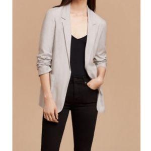 Talula Open Light Gray Blazer Jacket Size 00